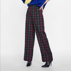 NWT Zara plaid trousers